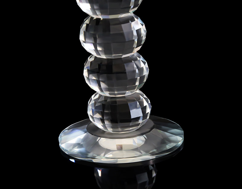 Crystal Glass Table Candlestick