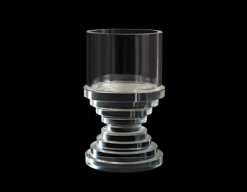 Cylindrical Crystal Candle Holder